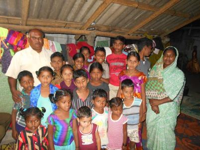 Pastor Yatham helping the poor of India